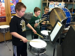 Percussionists at work